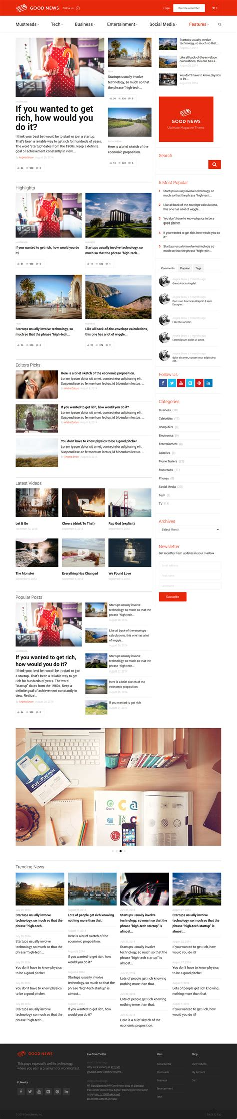 blogger magazine themes 2015 good news blog magazine theme flatdsgnflatdsgn