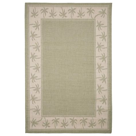 Palm Tree Outdoor Rug Lavish Home Palm Trees Green 5 Ft X 7 Ft 7 In Indoor Outdoor Area Rug 62 30341 The Home Depot