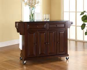 Kitchen Furniture Island by Crosley Furniture Solid Black Granite Top Kitchen Cart