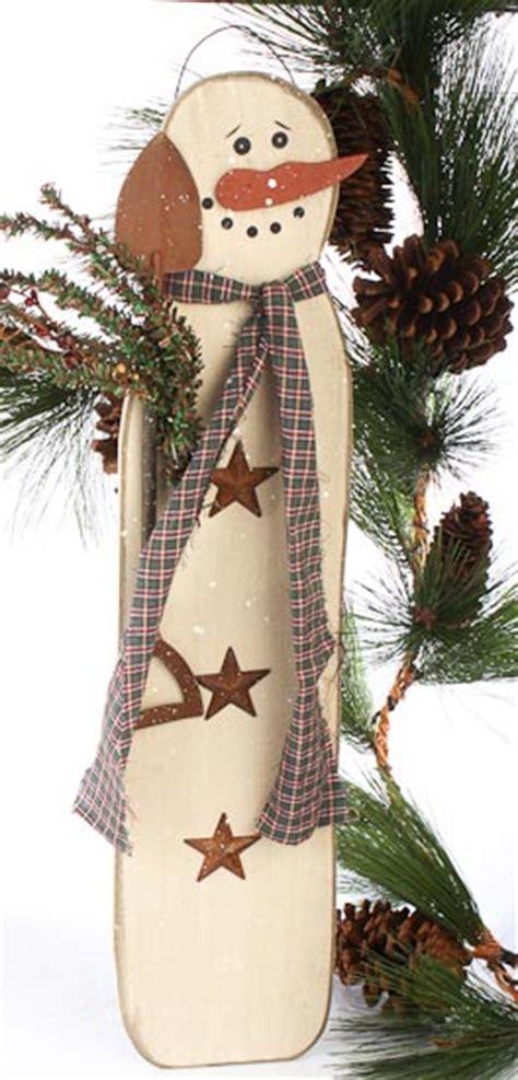 "Wood Snowman Plaque   WOW 28"" tall!   Wall Art   Christmas"
