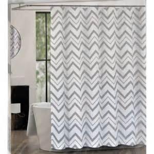 Home 187 chevron fabric shower curtains