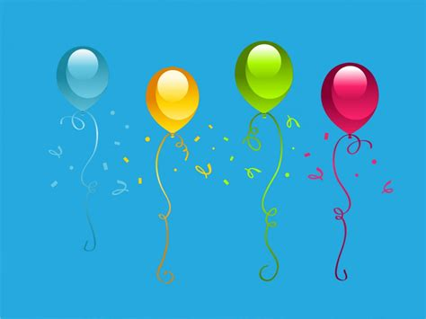 Birthday Party Backgrounds Blue Cartoon Holiday Templates Free Ppt Backgrounds And Powerpoint Slides Templates Free