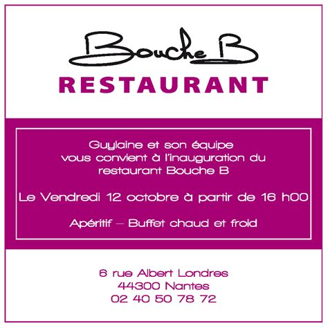 Exemple De Lettre D Invitation Au Restaurant Modele Invitation Restaurant Document