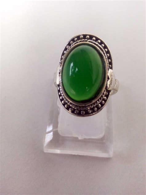 Cincin Batu Topas Hijau jual cincin wanita batu akik topas hijau rcth01 grosir