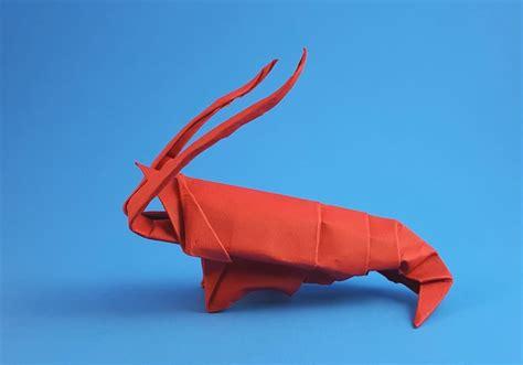 Shrimp Origami - origami crustaceans gilad s origami page