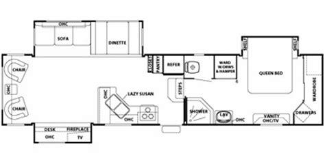 cedar creek fifth wheel floor plans 2008 cedar creek fifth wheel series m 36rlts specs and
