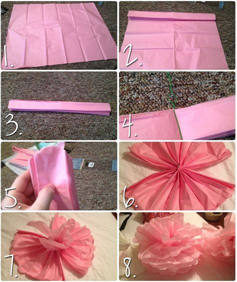 How To Make Pom Poms Out Of Tissue Paper - 107 best pom pomm images on