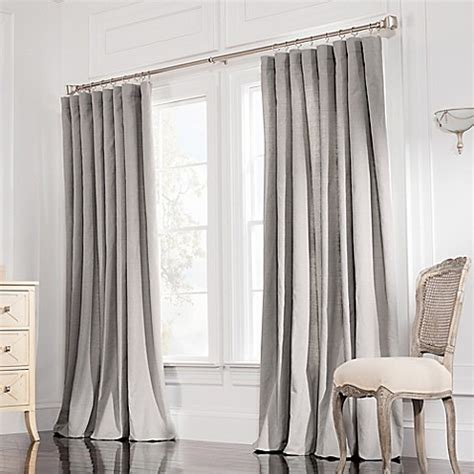 double rod pocket sheer curtains valeron estate rod pocket insulated double width window