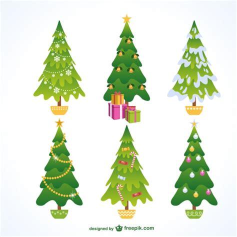 conjunto de 225 rboles de navidad descargar vectores gratis