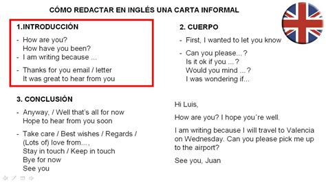 c 243 mo redactar una carta informal en ingl 233 s