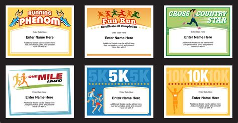 run certificate template running certificates templates runner awards cross country