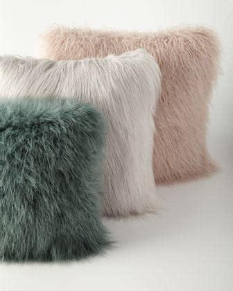 khan faux fur pillows