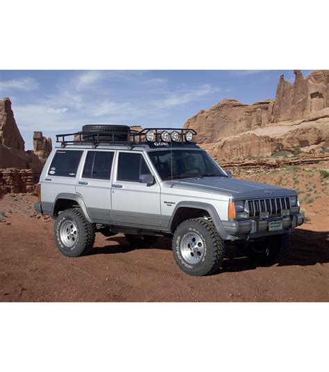 jeep cherokee tires jeep cherokee xj 183 ranger w tire rack 183 multi light setup