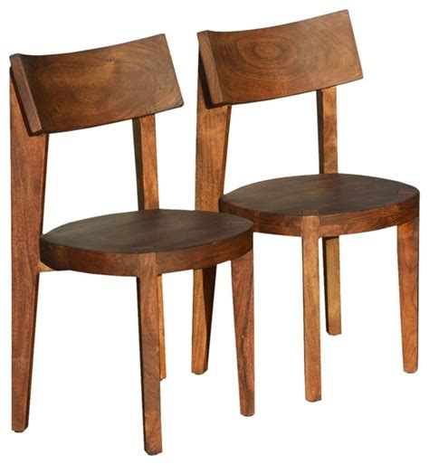 Rustic Solid Wood Modern Ergonomic Dining Chair Set Of 2 Ergonomic Dining Chair