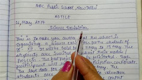Complaint Letter Sle Class 11 Cbse how to write a notice format of notice writing with a