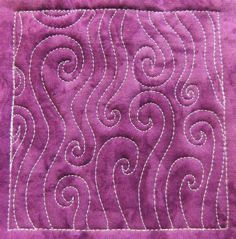 the free motion quilting project day 152 trailing spirals