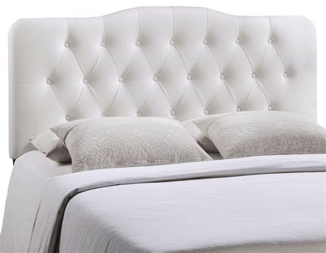 white queen headboards annabel white queen vinyl headboard from renegade mod