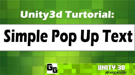 unity tutorial text unity 3d simple pop up text tutorial unity3d warehouse