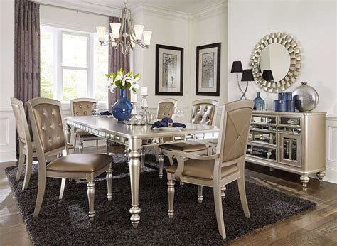 mirrored dining room set images with stunning buffet ideas