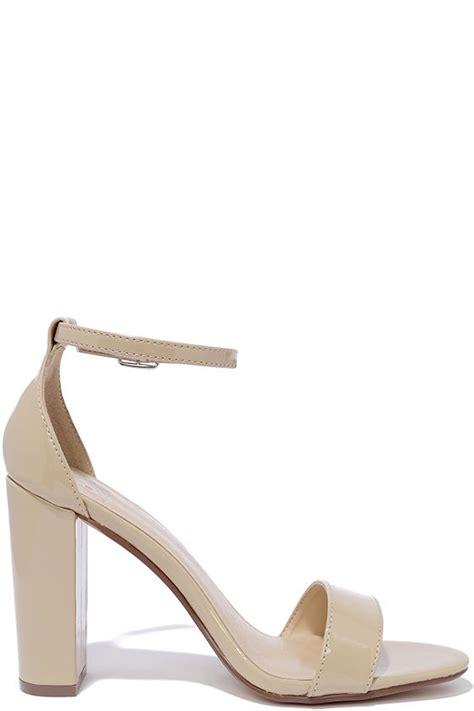 Heals Stap Beige pretty beige heels ankle heels dress sandals
