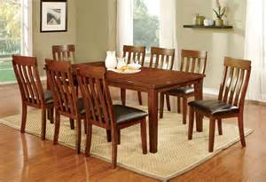 Cherry Dining Table Set Foxville 7 Cherry Finish Dining Table Set