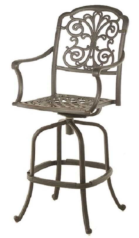 Bar Height Patio Set With Swivel Chairs By Hanamint Luxury Cast Aluminum Patio Furniture Swivel Bar Height Chair