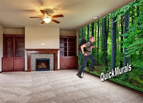 stick on wall mural woodland forest peel and stick wall mural