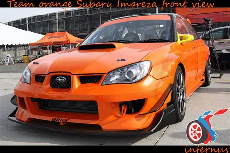 Subaru Orange by Subaru Impreza Orange Front By Janmarkelj On Deviantart