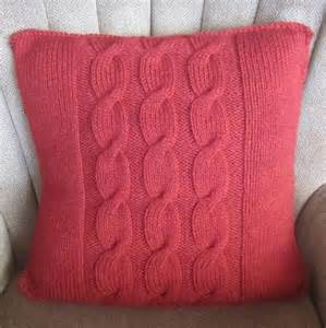 Name knitting cable panel pillow cover