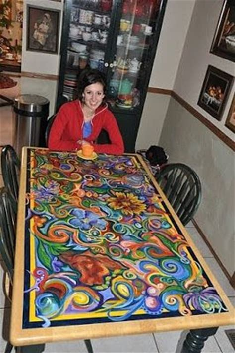 hand painted dining room tables hand painted dining table home pinterest