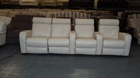 Ex Display Sofa Warehouse by Ex Display Frontrow Leather 4 Seater Electric