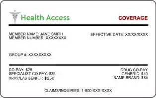 Health Insurance Card Template Health Insurance Card Template Willow Creek Pediatrics