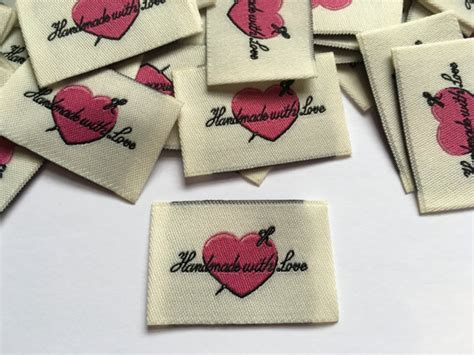 Handmade Labels For Clothing - handmade with woven label clothing garment labels