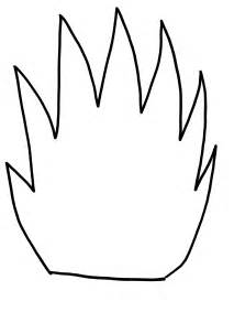 flames template template printout cliparts co