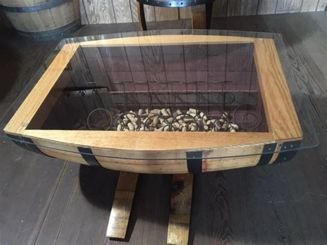 wine barrel table glass top glass top wine barrel coffee table without wine racks