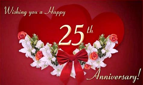 Wedding Anniversary Wishes 25 Years by 25th Anniversary Wishes Wishes Greetings Pictures