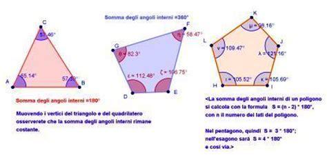 somma angoli interni di un poligono somma degli angoli interni di un poligono con applet