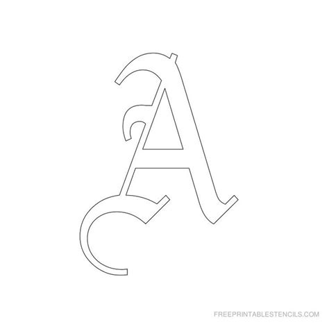 Free Stencil Letters To Print And Cut Out Printable 360 Degree Letter Templates Printable
