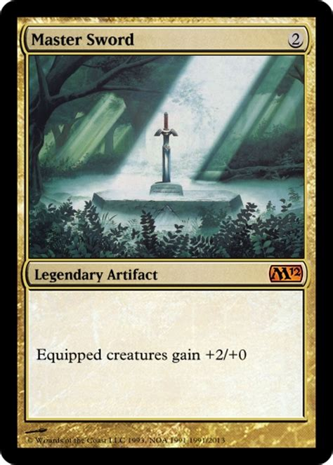 make mtg cards master sword magic the gathering card by theblastoise on