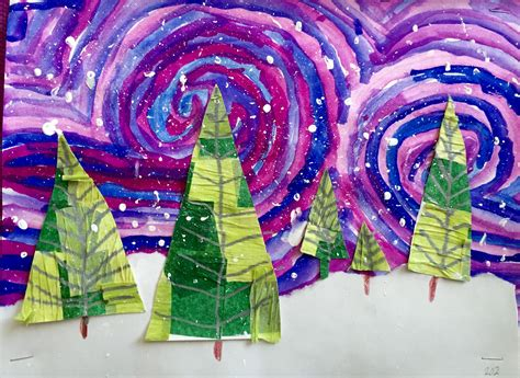 photos of elementary students christmas art image result for hanging elementary elementary school lessons perspective
