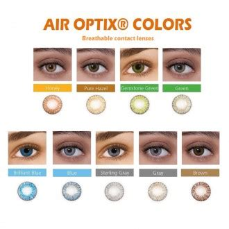 alcon air optix® monthly colors contact lenses ally optical