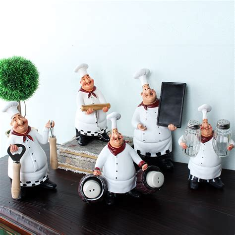 2pcs lot kawaii chef home decoration accessories kitchen ᐊchef resin crafts vintage home 169 decor decor chef