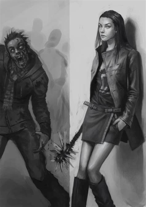 zombie hunter tutorial how to draw zombie drawing and digital painting