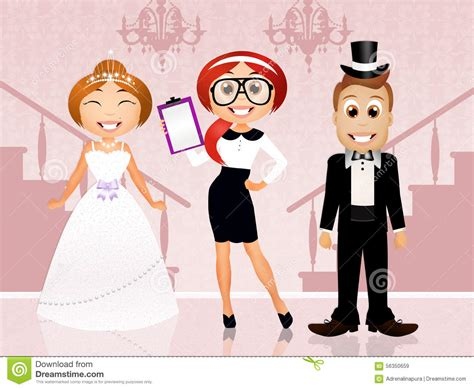 Wedding Planner Clipart by Wedding Planner With And Groom Stock Illustration
