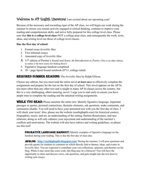 Invisible Essay Topics by The Invisible Essay My Reader S Block The Invisible Review Ap Us History Dbq Sle