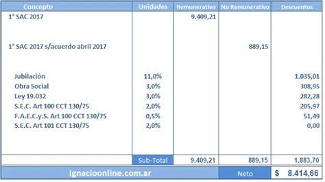 ignacio online empleados de comercio liquidaci 243 n sueldo calculo de aguinaldo junio 2015 ignacio online empleados