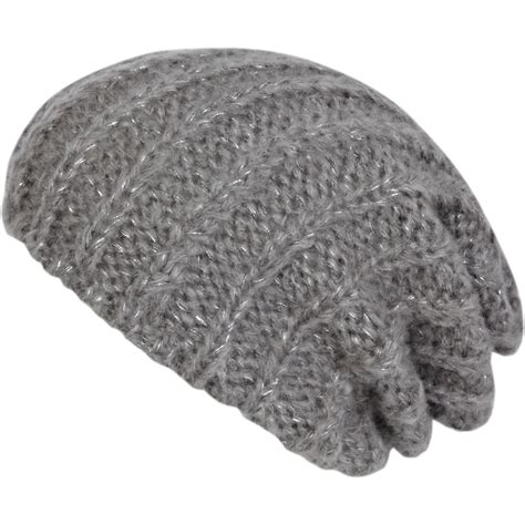 rib accessoires grey rib beanie hat accessories sale women