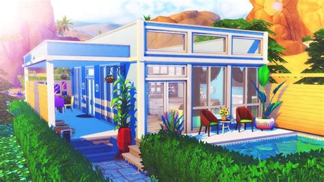 the sims house building modern abode speed build youtube idolza the sims 4 speed build tiny modern home youtube