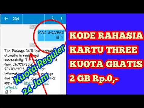 kode rahasia operator three heboh kode rahasia kartu 3 tri kuota gratis 2 gb rp 0