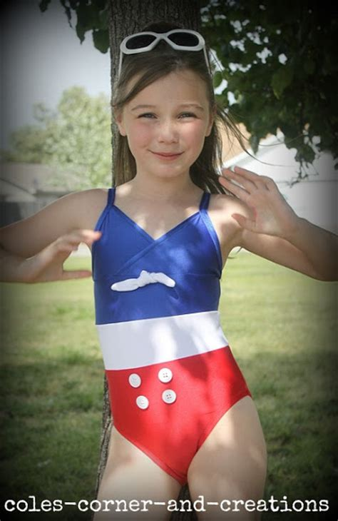 pinup preteen toon cole s corner and creations all 4 one stylish swimsuit